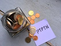 Jar of coins Stock Photography