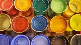 Jar color palette has water color. Colorful background and abstract royalty free stock images