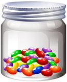 Jar of colorful candy Stock Photo