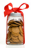 Jar with cookies Royalty Free Stock Images
