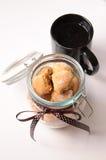 Jar with cookies Royalty Free Stock Photos