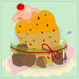 Jar-with-cookies-and-cake Royalty Free Stock Image
