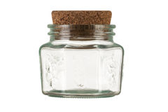 Jar with cork Stock Photos