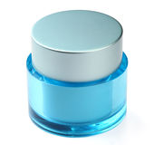 Jar for cosmetic. S on a white background Stock Photo