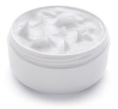 Jar with cosmetic cream. Royalty Free Stock Image