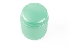 Jar for cosmetic product over white Stock Photos