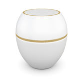 Jar for cosmetics for your design. 3d rendering. Royalty Free Stock Photo