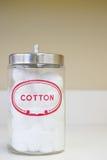 Jar of cotton wool Royalty Free Stock Photos