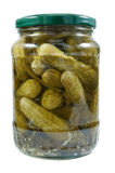 Jar with cucumbers. Royalty Free Stock Photography