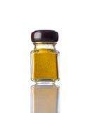 Jar Curry Powder on White Background Stock Image