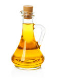 Jar, decanter with olive or sunflower oil Stock Photography