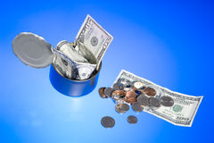 Jar with dollar Stock Images