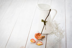 Jar with dried Rose Royalty Free Stock Images