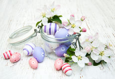 Jar with easter eggs Stock Photography