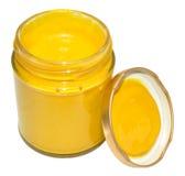 Jar Of English Mustard Stock Photography