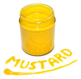 Jar Of English Mustard Royalty Free Stock Images