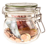Jar with euros Stock Photography