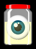 Jar with eyeball Royalty Free Stock Photo