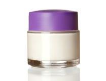 Jar of face cream royalty free stock photos