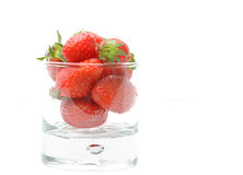 Strawberries in jar Stock Photos