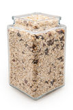 Jar filled with oatmeal Stock Photo