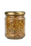 Jar of fresh bee pollen Stock Images