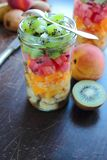 Jar with fresh fruits Royalty Free Stock Images