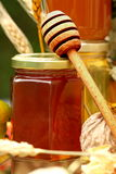 Jar of fresh honey Stock Image