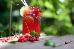 Jar of fresh juice Royalty Free Stock Images
