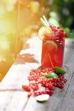 Jar of fresh juice Stock Image