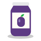 Jar with fruit and berry jam Stock Photography
