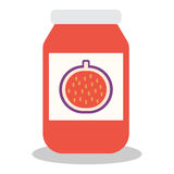Jar with fruit and berry jam Royalty Free Stock Photography