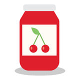Jar with fruit and berry jam Royalty Free Stock Images