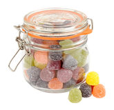 Jar Of Fruit Gum Candy Stock Photography