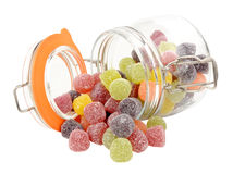 Jar Of Fruit Gum Candy Royalty Free Stock Photo