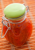 Jar with fruit jam Stock Images