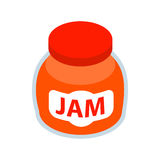 Jar of fruity jam icon, isometric 3d style Royalty Free Stock Photography