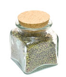 Jar full of beans Stock Photography
