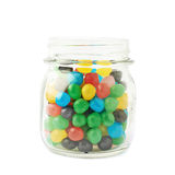 Jar full of candy ball sweets Stock Images