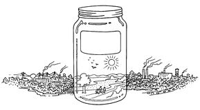 A jar full on clean environment Stock Photography