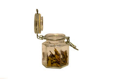 Jar full of spices Royalty Free Stock Photo
