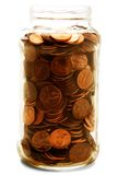 Jar Full Of Us Coins Royalty Free Stock Photo