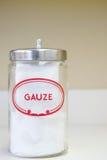 Jar of gauze Royalty Free Stock Images