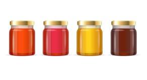 Jar Glass with Jam. Vector Royalty Free Stock Photos