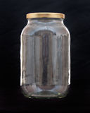 Jar of glass, kitchen fragile container Royalty Free Stock Image