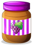 A jar of grape jam Stock Photos