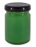 Jar of green jam Stock Images