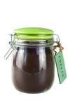 Jar of ground coffee Stock Photo