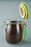 Jar of ground coffee Stock Image