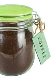 Jar of ground coffee Royalty Free Stock Photography